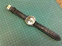 Ремешок из тисненой кожи для часов HAMILTON, фото 1