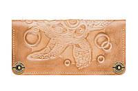 Кошелек кожаный, бумажник Gato Negro Turtle Ivory ручной работы