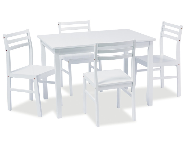 Комплект стол и 4 стула Tromso белый