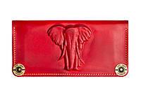 Кошелек, бумажник, портмоне Gato Negro Elephant Red ручной работы