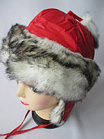 Зимние шапки-ушанки из плащевки.
