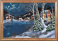 Схема для  вышивки бисером Зимняя ночь