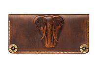 Кошелек, бумажник, портмоне Gato Negro Elephant Khaki ручной работы