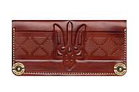 Кошелек, бумажник, портмоне Gato Negro Ukraine Brown ручной работы