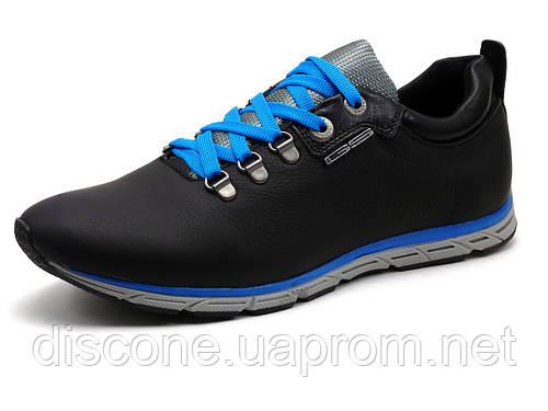 Спортивные туфли GS-комфорт, мужские, натуральная кожа, черные, Турция