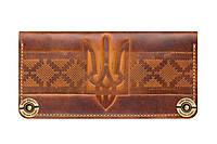 Кошелек, бумажник, портмоне Gato Negro Ukraine Khaki ручной работы