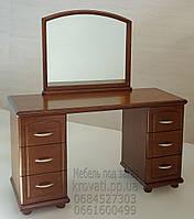 Трюмо деревянное с зеркалом и двумя тумбами tr2.1