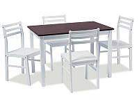 Комплект стол и 4 стула Tromso античная черешня/белый