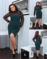Платье с сеткой в расцветках 42226, фото 1