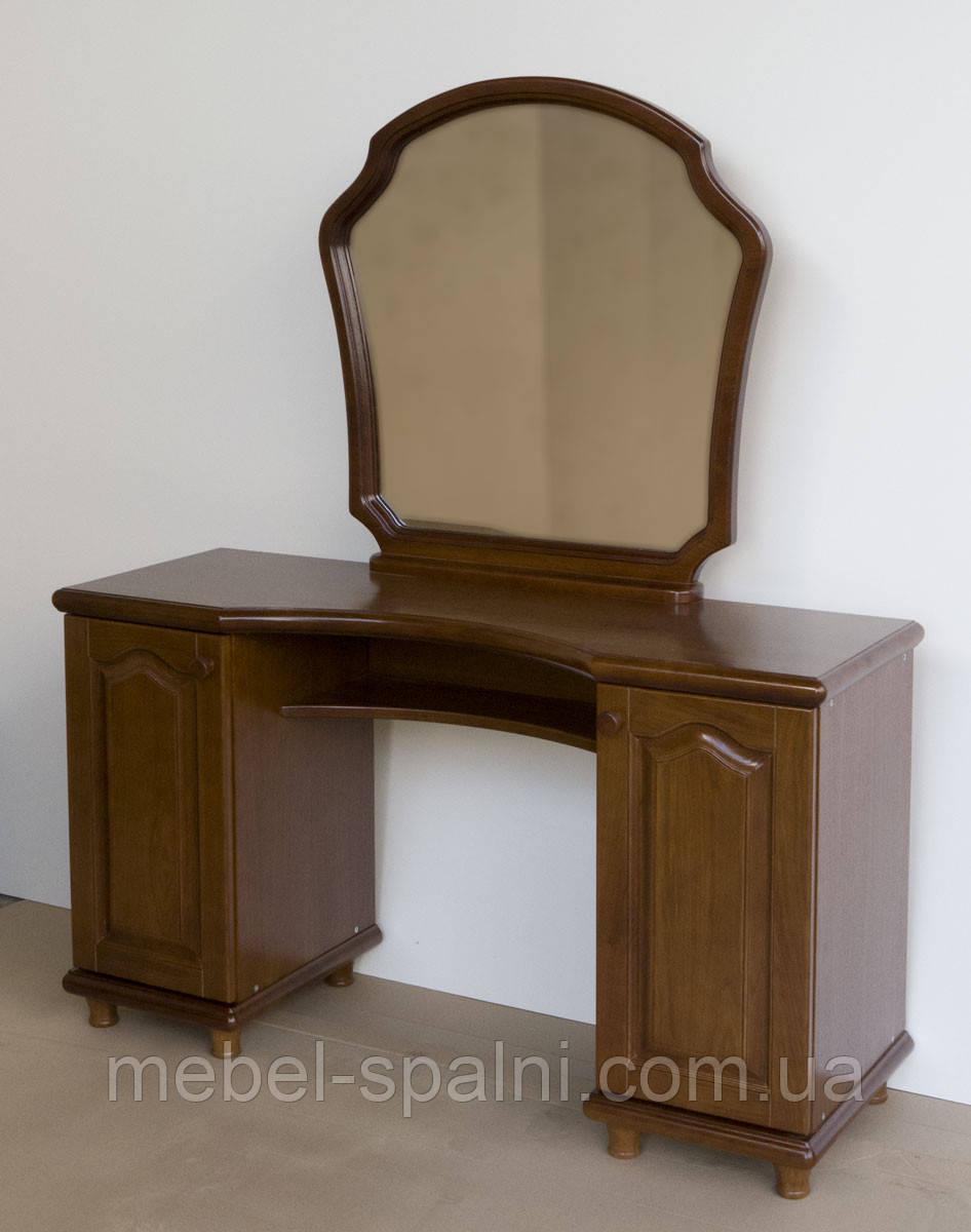 Трюмо деревянное с зеркалом и двумя тумбами tr2.2