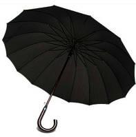 Прочный элегантный мужской зонт-трость, 16 спиц, полуавтомат Susino Ru0036