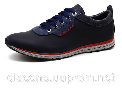 Спортивные туфли GS-комфорт, мужские, натуральная кожа, темно-синие, Турция