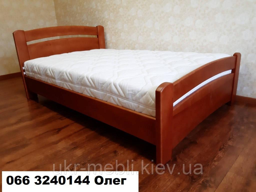 Кровать полуторная двуспальная Агата из массива дерева, Киев