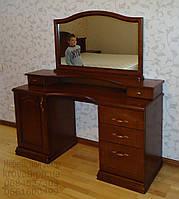 Трюмо деревянное 2-х тумбовое с зеркалом и консолью tr2.4, фото 1