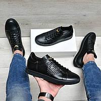 Черные мужские кроссовки в стиле Giorgio Armani, фото 1