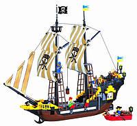 """Конструктор Brick 307 """"Пиратский корабль"""" (590 деталей) КК"""