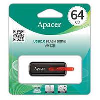 Накопичувач Apacer 64GB USB 2.0 AH326 Black