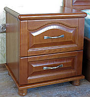 Тумбочка прикроватная деревянная  с фигурной филёнкой 8.1