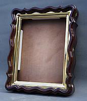 Фигурный киот для иконы формата 30х40см с внутренней золочёной рамой., фото 2