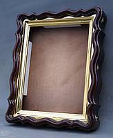 Фигурный киот для иконы формата 30х40см с внутренней золочёной рамой., фото 3