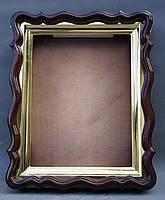 Фигурный киот для иконы формата 30х40см с внутренней золочёной рамой., фото 4