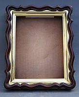 Фигурный киот для иконы формата 30х40см с внутренней золочёной рамой., фото 5