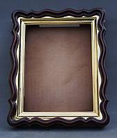 Фигурный киот для иконы формата 30х40см с внутренней золочёной рамой., фото 6
