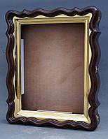 Фигурный киот для иконы формата 30х40см с внутренней золочёной рамой., фото 7