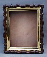 Фигурный киот для иконы формата 30х40см с внутренней золочёной рамой., фото 8