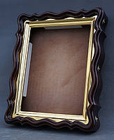 Фигурный киот для иконы формата 30х40см с внутренней золочёной рамой., фото 9
