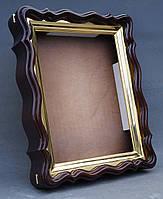 Фигурный киот для иконы формата 30х40см с внутренней золочёной рамой., фото 10
