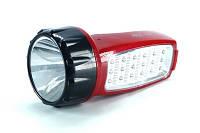 Фонарь аккумуляторный Yajia YJ-2823  1 LED + 19 LED Боковая подсветка + 2 режима работы