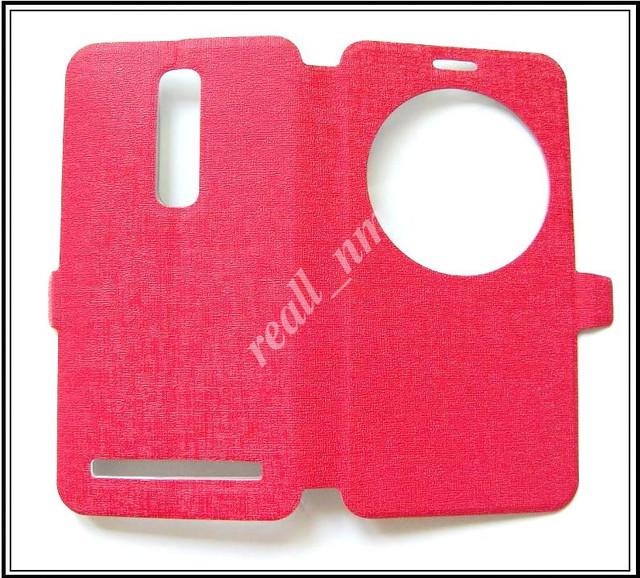 купить красный  чехол view flip Asus Zenfone 2 ZE551ML