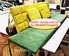Комплект подушок для меблів з піддонів. ППУ 4см, фото 4