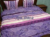 Комплект постельного БЯЗЬ оптом и в розницу, Сиреневая абстракция-полосы 0781-2