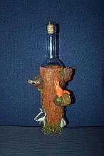 """Сувенірна пляшка """"лісові жителі"""" в дереві"""