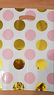 Пакеты подарочные банан  27×15 (10 ш.) рисунок +  золото