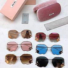 Очки солнцезащитные брендовые под Miu Miu размер 59-28-145