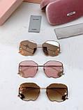 Окуляри сонцезахисні брендові під Miu Miu розмір 59-28-145, фото 9