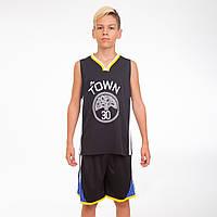 Форма баскетбольная подростковая NB-Sport NBA TOWN 30 4311 (PL, р-р M-2XL-130-165см, черный-желтый)