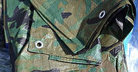 """Тент тарпаулин ПВХ 4x6 покрытие """"хаки"""" (камуфляж)"""