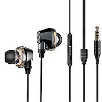 Наушники HF MP3 Baseus H-10 Black with mic + button call answering + volume control (NGH10-01)