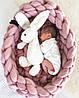 Гнёздышко-кокон для новорожденных из 100% шерсти мериноса