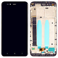 Дисплейный модуль LCD Xiaomi Mi A1 + touch + frame Black Original