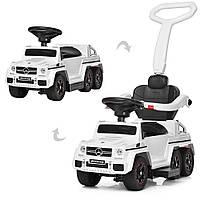 Детский электромобиль Mercedes (мотор 15w, аккум, MP3) каталка-толокар Bambi M 3853-1 Белый
