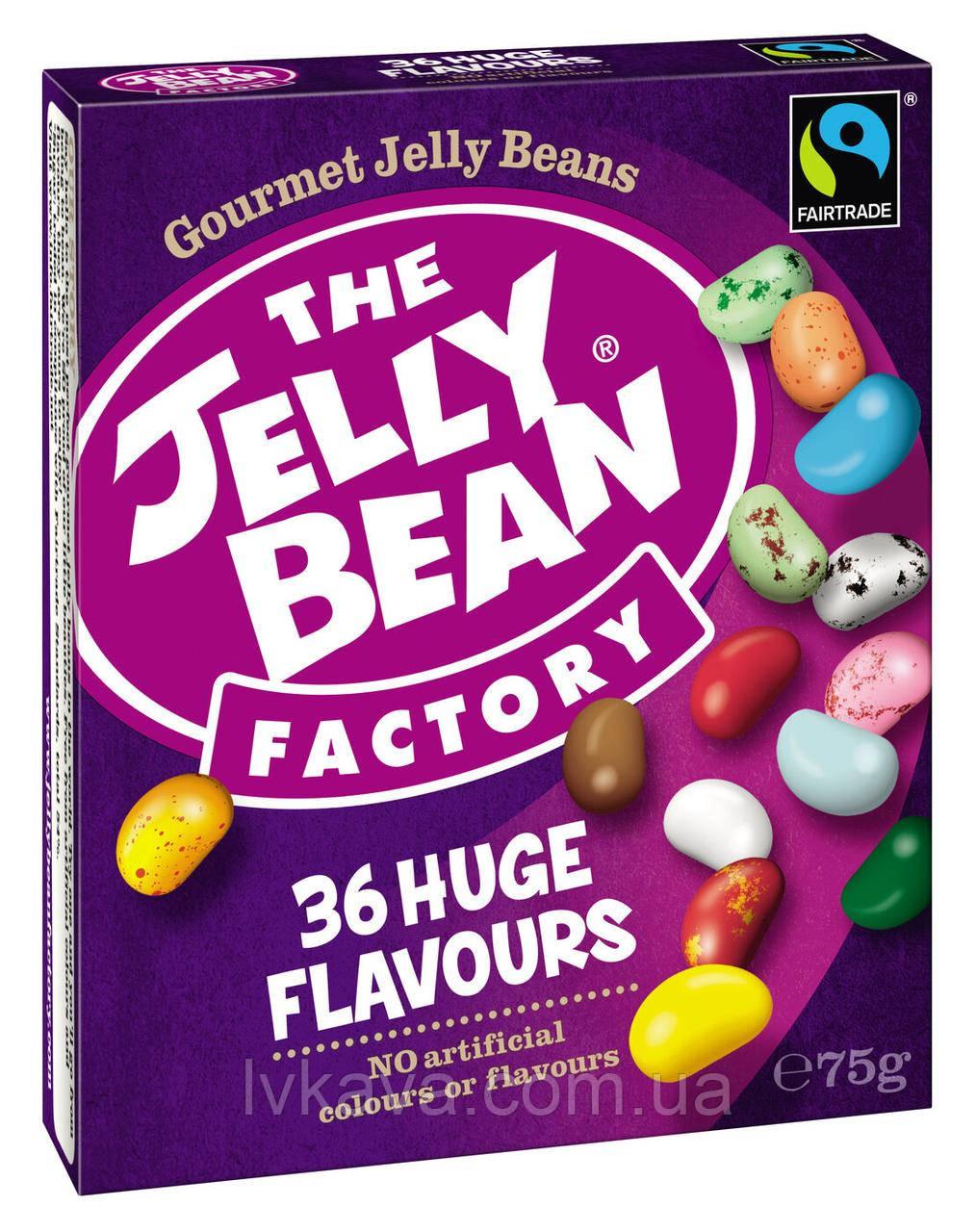 Желейные конфеты The Jelly Bean factory 36 huge flavours, 75 гр