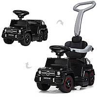 Детский электромобиль Mercedes (мотор 15w, аккум, MP3) каталка-толокар Bambi M 3853-2 Черный
