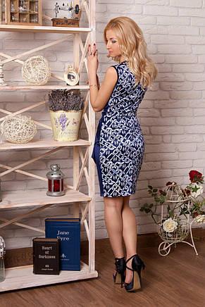 Нарядное гламурное платье из коттон-сатина, фото 2