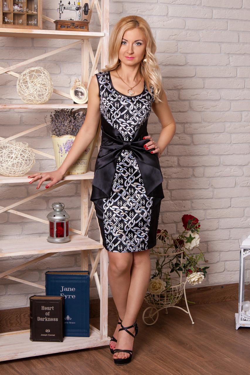 Нарядное гламурное платье из коттон-сатина