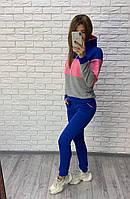 Модный женский спортивный костюм, большой размер